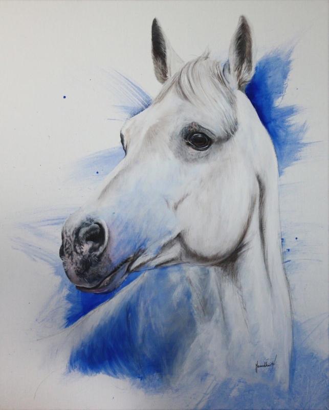 Portait de Azul 54x65 cm acrylique sur toile