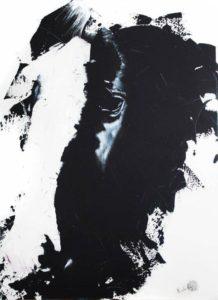 Portait de Daniro 65x92 cm acrylique sur toile
