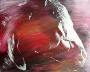 Portait de Lunel 81x100 cm acrylique sur toile